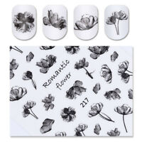 Beauty Nail Art Sticker Water Transfer Stickers Decoration Flower Decals Tips