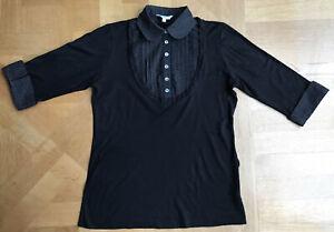 Vintage New Look Shirt T'shirt Black UK 14 Viscose Read Descriptions