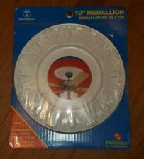 """NEW in plastic Westinghouse 7702700 Victorian Ceiling Medallion 10"""" White Finish"""
