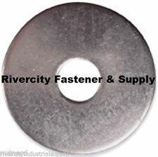 """(25) 1/2x2 Fender Washers Stainless Steel 1/2"""" x 2"""" Large OD Washers"""
