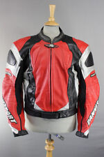DANNISPORT COWHIDE LEATHER BIKER JACKET WITH REMOVABLE CE PROTECTORS 44 INCH