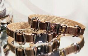 LaGucci Monogram SILVER METAL BUCKLE Fash.Dog Collar 12.5- 14.5 Neck Rt.$79- 🐩❤