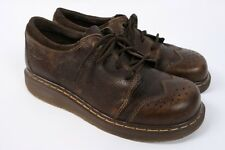 DOC DR MARTENS Brown Leather Lace up Brogue Wingtip Oxford Shoes US Women 10
