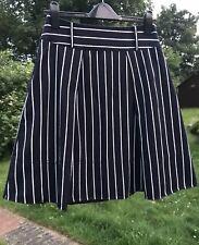 HOBBS Navy & White Stripe 100% Pure Cotton Skirt Sz 8