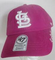 Saint Louis Hat Women Pink MLB St L Cardinals Strapback '47 Missouri Cap