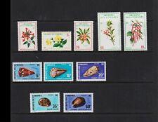 Comoro Islands - 2 mint sets - Flowers, Sea Shells, cat. $ 40.35