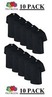10pk BLACK FOTL Mens Plain Original T 100% Cotton Blank Tee Shirt Bulk Buy New