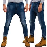 Jeans pantaloni uomo cavallo basso harem sarouel denim cotone TOOCOOL M2021