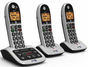 BT4600 Big Button Advanced Call Blocker Cordless Home Phone Trio Handset