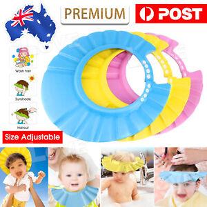 New Adjustable Baby Shower Cap Children Shampoo Bath Wash Hair Shield Hat