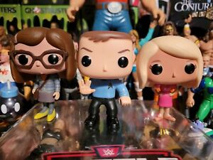 Funko Pop Big Bang Theory Lot Sheldon As Spock Penny Amy Retired Vaulted 2013