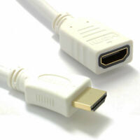 White HDMI 1.4 High Speed 3D TV Extension Lead Male Female Cable 0.25m