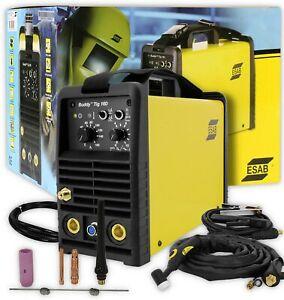ESAB Buddy TIG 160 Schweißgerät komplett Elektroden-/WIG-Schweißen *DHL Versand!