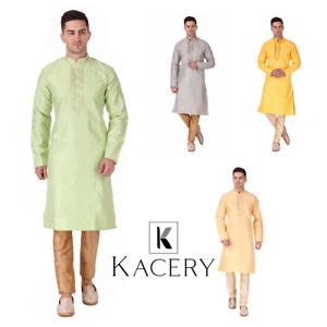 Men's Indian brocade  kurta Pajama fancy wedding outfit sherwani indo  AN830