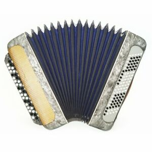 Bayan Moscow, 100 Bass, Vintage Russian Button Accordion New Straps Case 1605