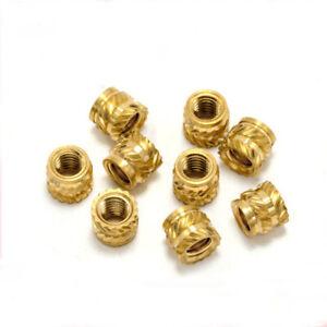 20pcs M4 brass inlay nut muff insert injection molding hot melt twill nuts muffs