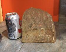 Vintage 3D Elephant in Rock Like Acrylic Shape