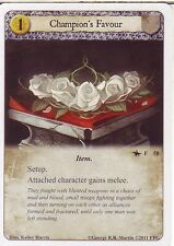 3 x Champion's Favour AGoT LCG 1.0 Game of Thrones On Dangerous Grounds 58