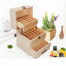 Huiles essentielles Boîte de rangement en bois Fentes pour bouteilles d'huile