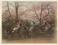Japon, pouss pouss vintage albumen print, some dommages Tirage albuminé aq