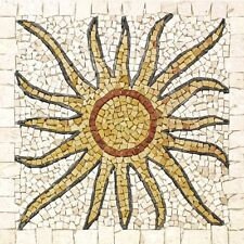 Rosoni rosone mosaico in marmo su rete per interni esterni 66x66 MAJORCA 66.37