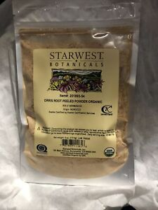 Starwest Botanicals Organic Orris Root Peeled Powder 4 Oz iris x GERMANICA