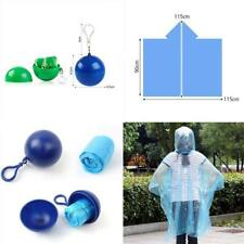 Portable Plastic Keyring Ball With Raincoat Disposable Rain Jacket Poncho JJ