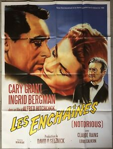 Poster The Chained Notorious Alfred Hitchcock Cary Grant Bergman 47 3/16x63in
