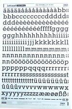 Letraset frotar en carta transferencias 60pt Rockwell 391 (#2964) 16.2 mm Nuevo