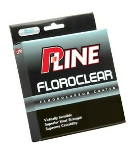 P-Line FCCF-4 Clear Floroclear Coated Fishing Line - 4lb x 300yds
