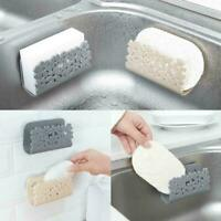 Sponges Holder Rack Drying Sink Storage Cup Dish Scrubbers Kitchen Bathroom K1Q1