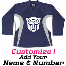Robot Graphic On Hockey Practice Jersey Name & Number too!