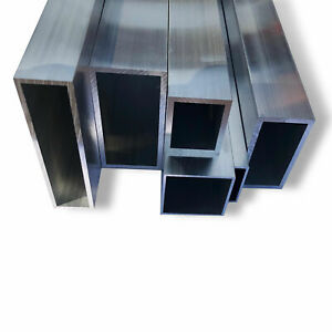 Aluminium Hollow Square Box Section Mill Finish 6060 Grade Various Lengths