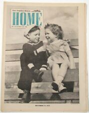 Los Angeles Times Home Magazine Dec 1943 Sailor Boy and Little Girl Cover