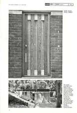 1962 Douglas Fir Timber Door To A House In Poole Dorset Castle And Park