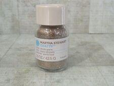 Martha Stewart Glitter Smoky Quartz Glass Jar 1.5 oz Scrapbook New