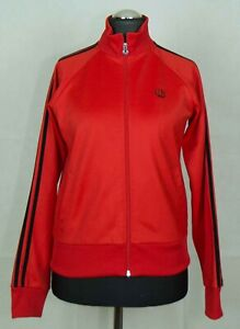 WOMENS FRED PERRY TRACK JACKET ZIP SIZE UK12 ( LABEL UK14) VGC