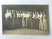 Postcard RPPC Womens Auxiliary Club Group Photo?? Embracing One Another c1910's