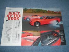 """Chevy 5th Generation Camaro Street COPO Drag Car's Article """"Built by the Book"""""""