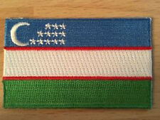 UZBEKISTAN Country Flag Embroidered PATCH