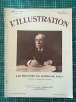 L'ILLUSTRATION 1931 N°4586 Mémoires Maréchal Foch dos pub serrures Fontaine