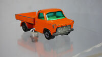 Ford Transit Pick Up Truck Matchbox Superfast Lesney Diecast Orange No.66 1977