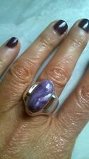 STUNNING HEAVY HANDMADE RING HIPPY/ARTY/BOHO  CHARIOTE Silver 925 GOLD DETAILS
