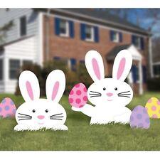 œuf de Pâques Chasse Décoration de jardin gazon lapin blanc Mad Hatter Tea Party