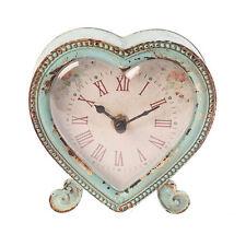 Blu Boudoir a forma di cuore orologio da mensola per il trasporto Chic Shabby Sass & Belle Regalo