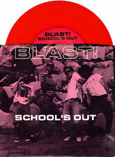 "BL'AST school's out 7""EP 1989 SST hardcore punk TRANSLUCENT RED VINYL"