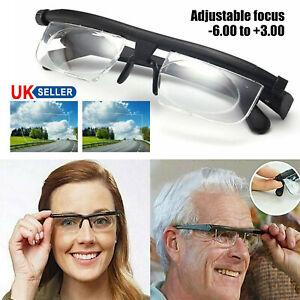 Dial Adjustable Glasses Variable Focus Distance Vision Eyeglasses For Reading UK