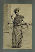 1921 Ceylon RPPC postcard Cover to Italy Tamil Girl