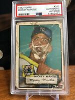 1952 Topps Mickey Mantle #311 The Legendary Bearded Mantle!!!!