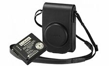 Panasonic Leather Case and Battery for Lumix TZ100 Camera - Black